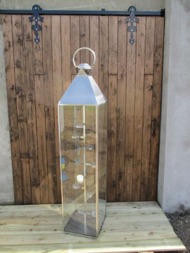 6ft Brushed Stainless Steel Lantern